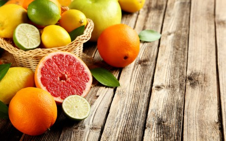 lemons, limes, grapefruits, and oranges