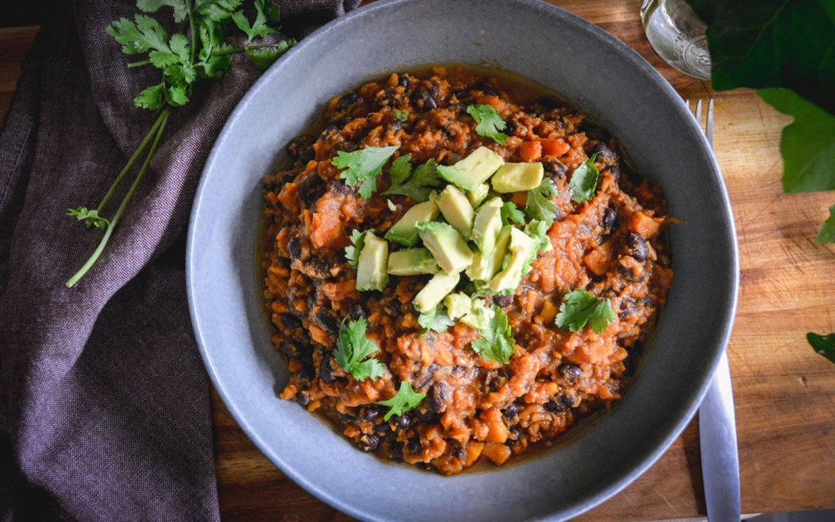 Vegan High Protein Sweet Potato Chili