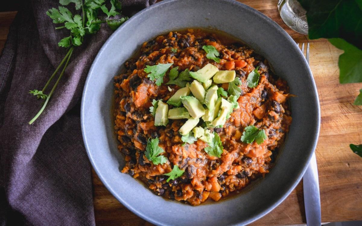 Vegan High Protein Sweet Potato Chili