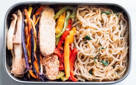 Vegan Korean Stir Fry Glass Noodles