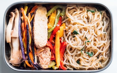 Vegan Korean Stir Fry Glass Noodles