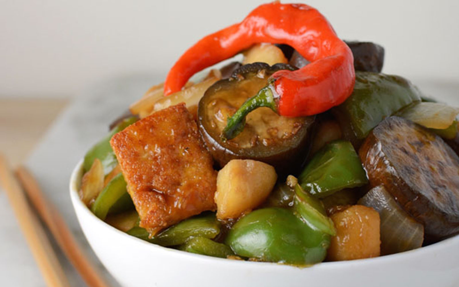 asian eggplant stir fry
