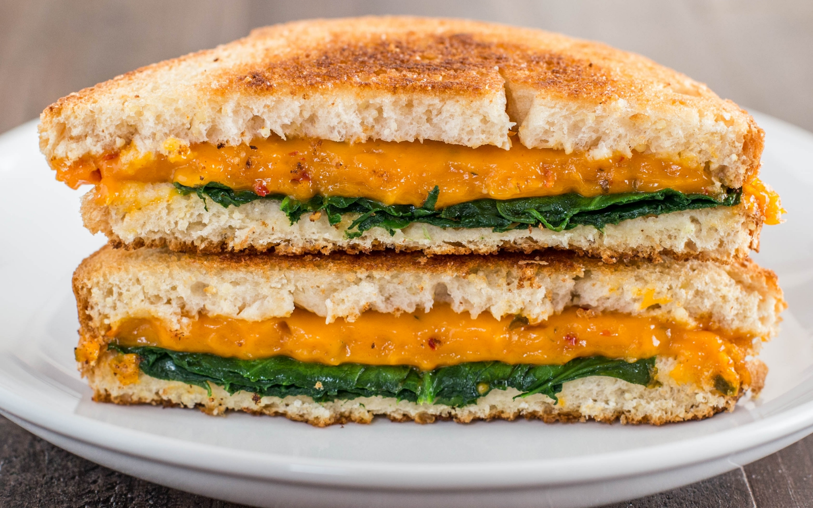 Vegan Gluten-Free Ooey-Gooey Grilled Cheese with greens
