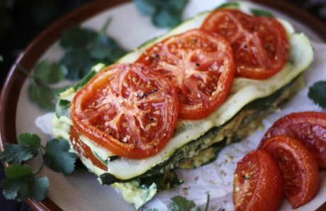 Raw Vegan Gluten Free Raw Zucchini Tomato Lasagna With Cashew Herb Cheese