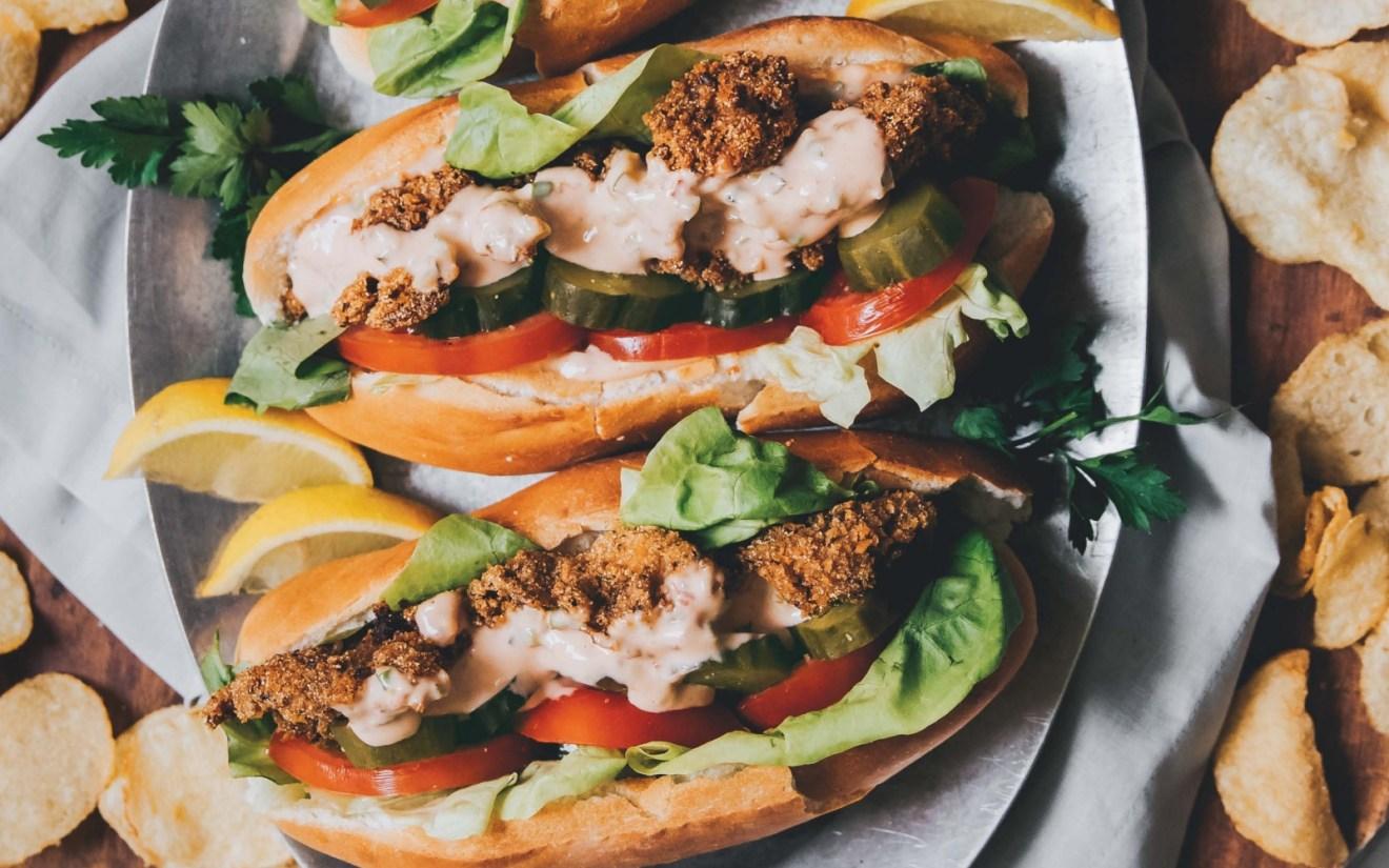 Vegan Oyster Mushroom Po' Boy