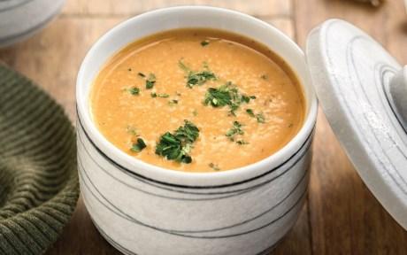 Vegan Garlic Bread Soup