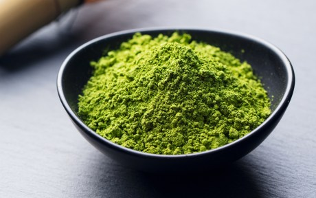 vegan matcha powder in a bowl