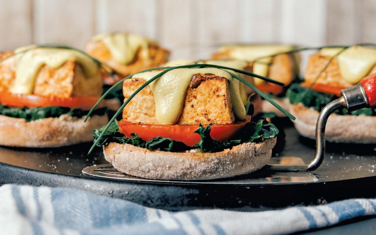 Vegan Tofu Benedict with Hollandaise