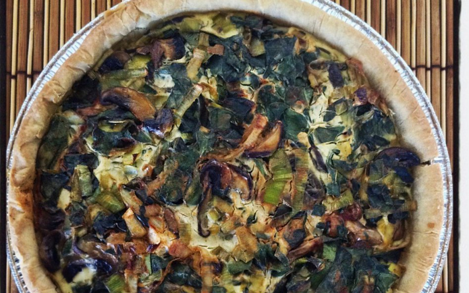 Vegan Swiss Chard Quiche With Wild Mushrooms