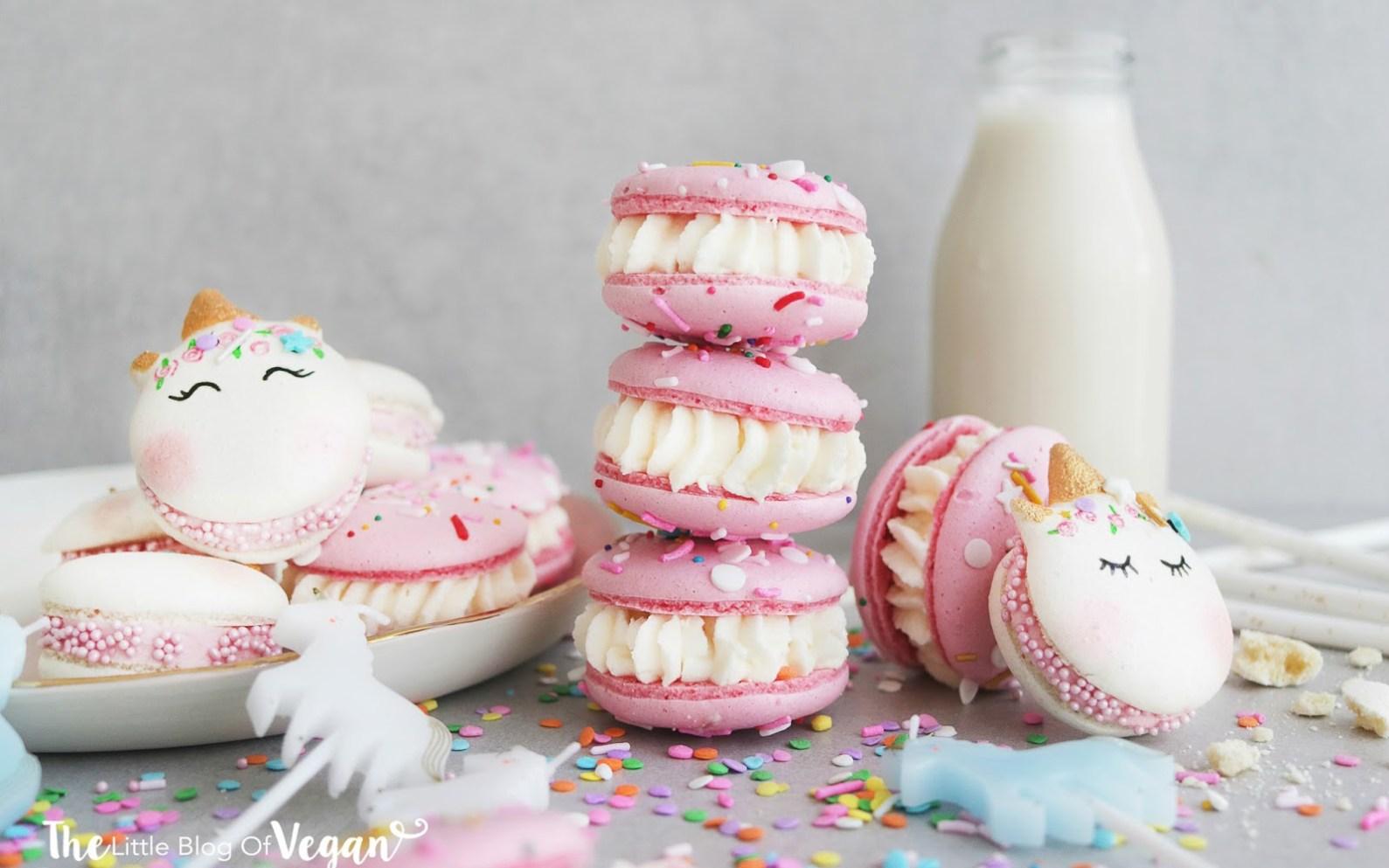 Unicorn Birthday Cake Macarons Vegan Gluten Free Wheat Free