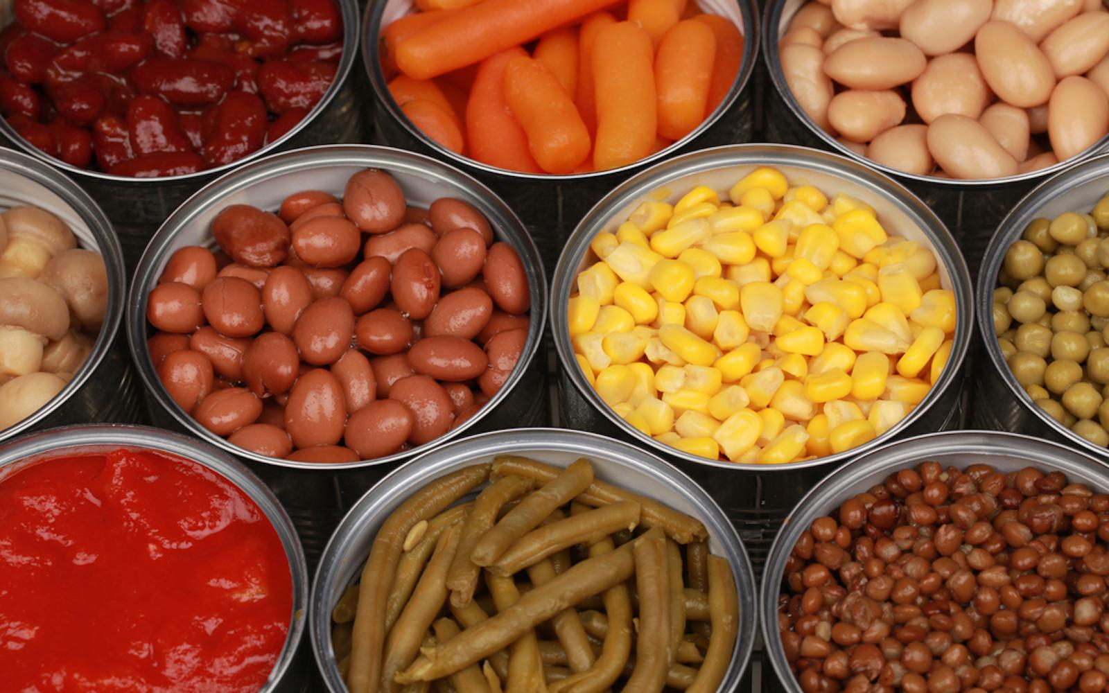canned vegetables vegan food