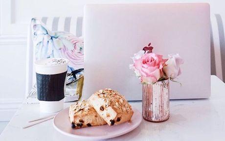 vegan pink pastries
