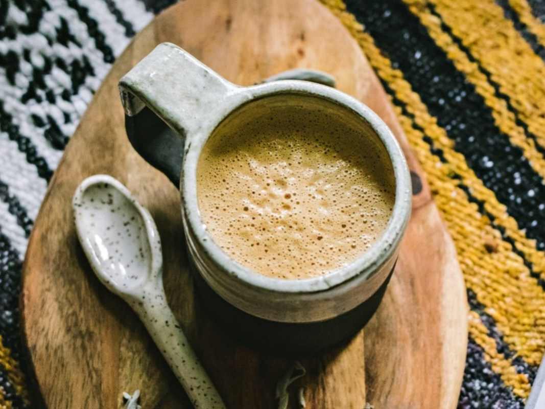 Dairy-Free Sage and Black Tea Latte