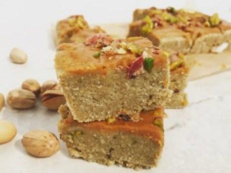 Peanut Butter Pistachio Protein Fudge
