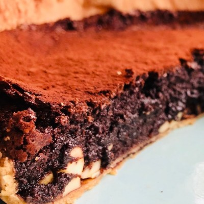 Brownie Fudge Pie, chocolate, recipe