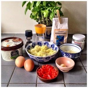 ingredients muffins zucchini