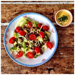 courgette salade vegetarisch