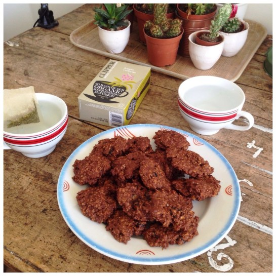 oat meal cookies tea time