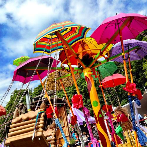parapluutjes draaimolen