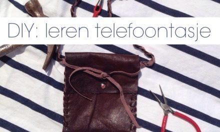 DIY: telefoontasje van leer