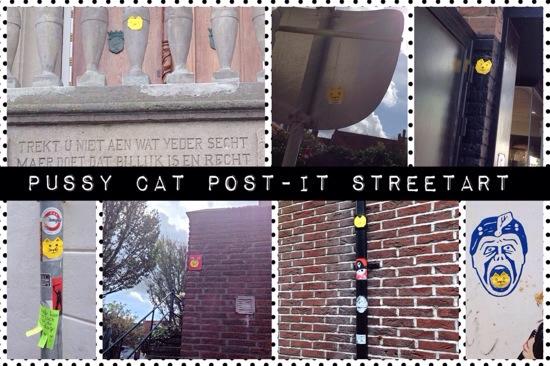 Post-it streetart