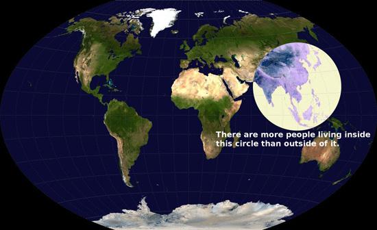 Wereldkaart: populatie