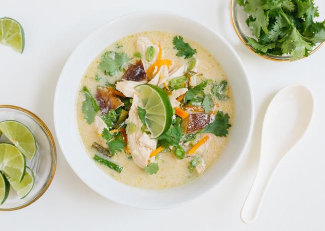 Slowcooker recepten: Thaise kippensoep