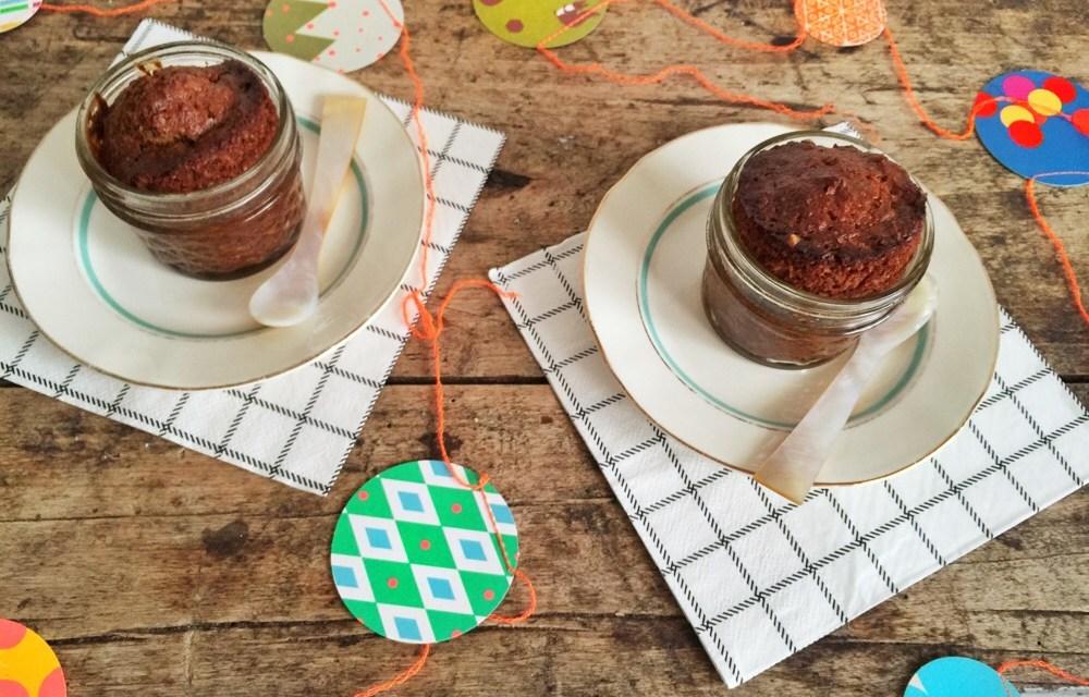 Cake in a jar met courgette