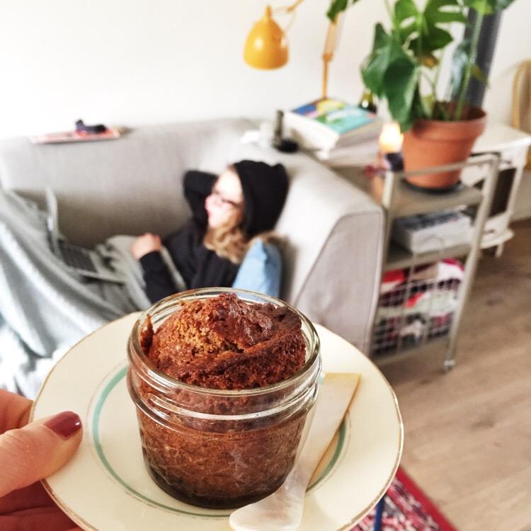 paleo cake in a jar