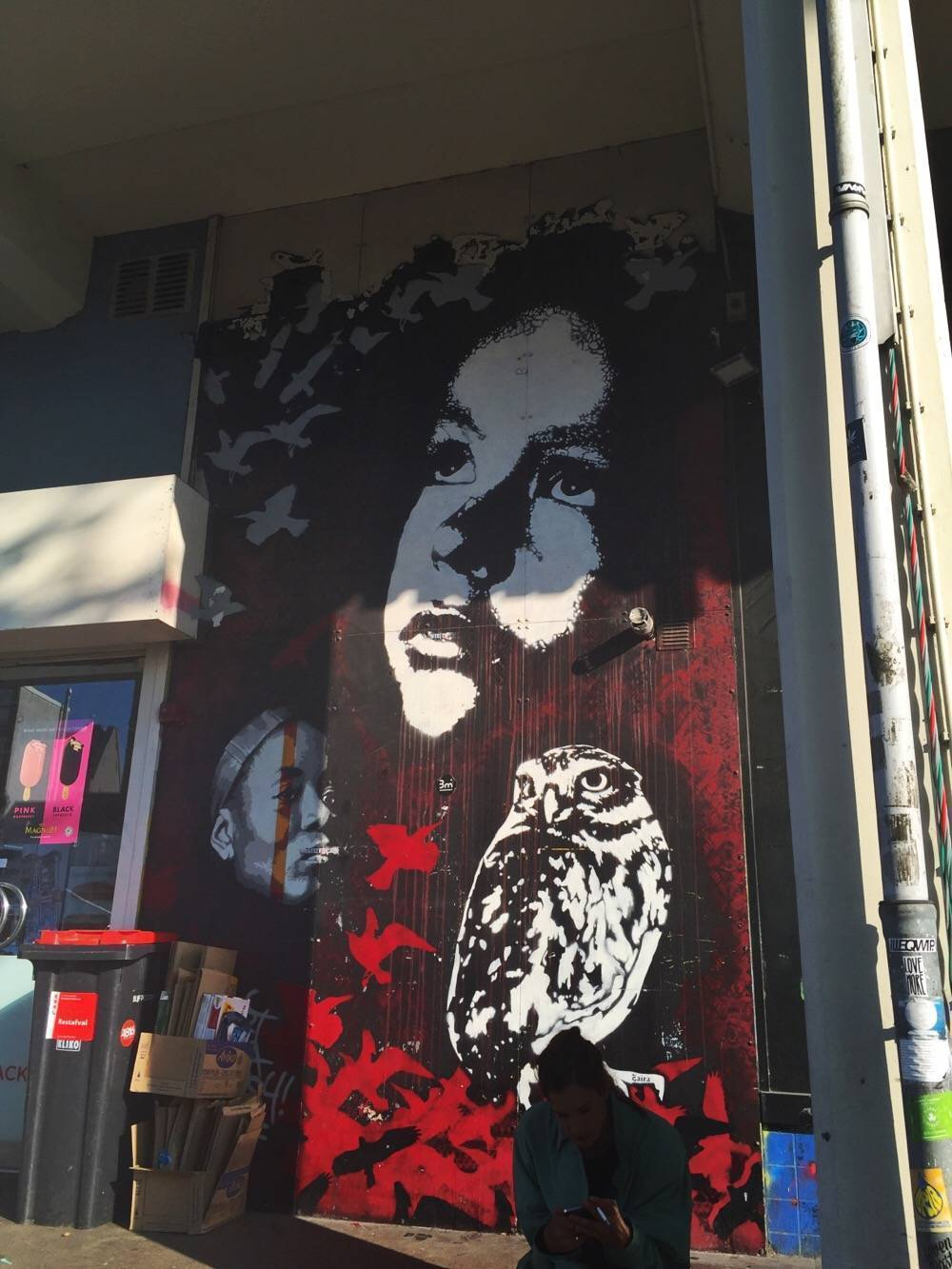 BustArt, Zaira and Anopsy - Streetart Amsterdam