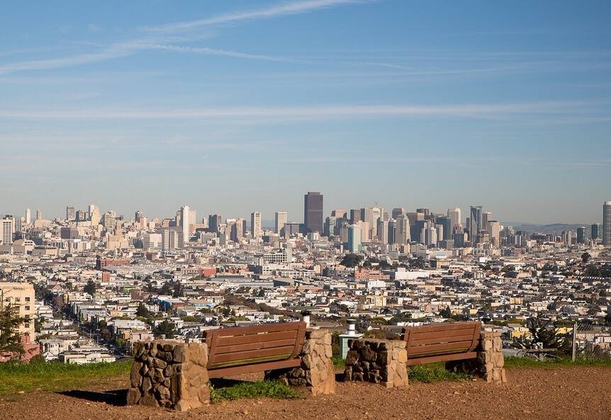 best views on San Francisco - view from Bernal Heights