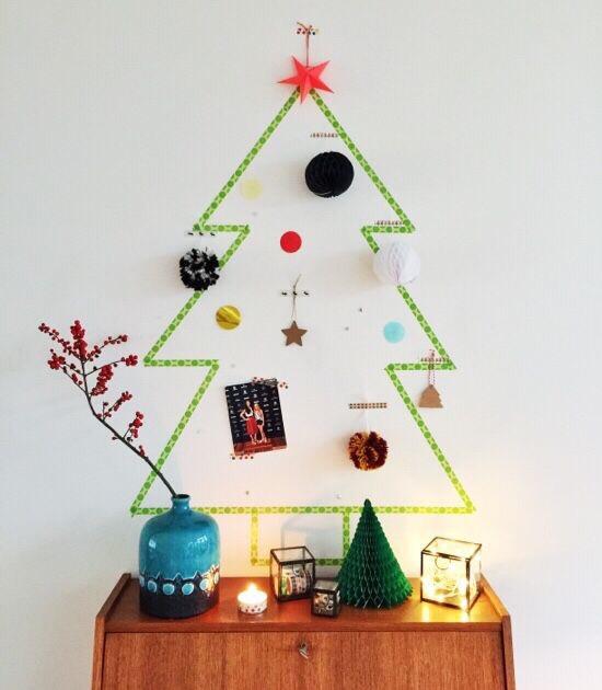 kerstboom washi tape