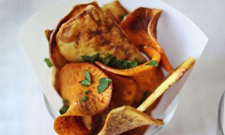 Recept: zoete aardappel chips