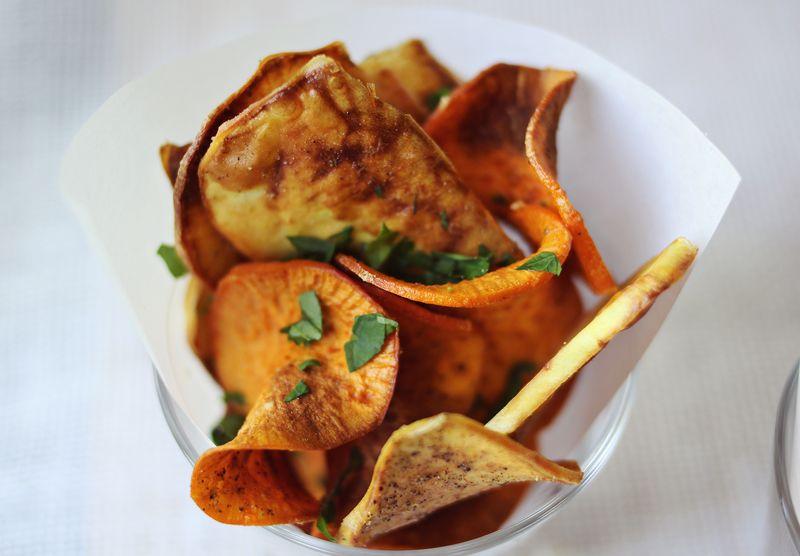 zoete aardappel chips - OHIMP
