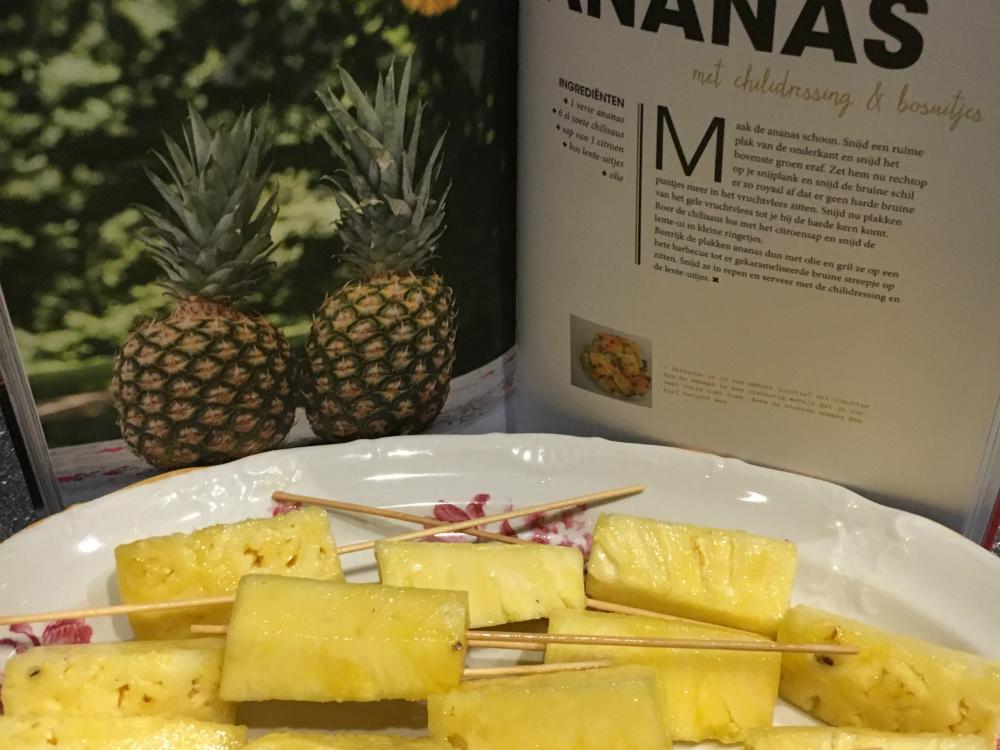 Gegrilde ananas BBQ