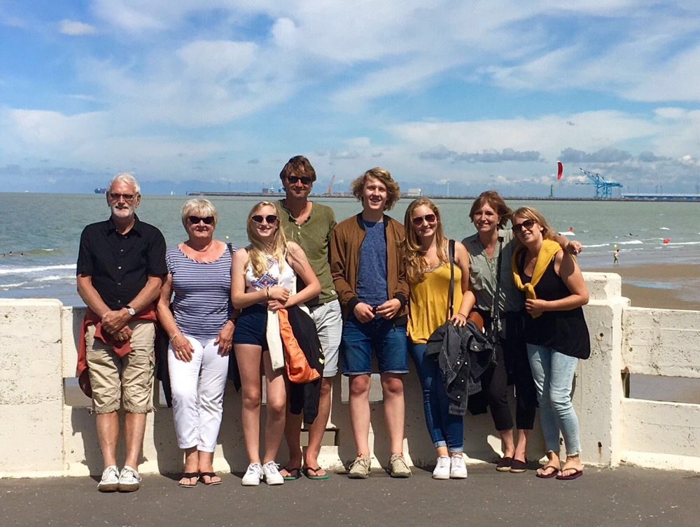 De familie in Brugge