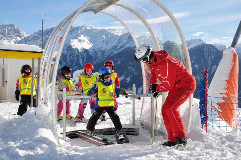 wintersport met kids