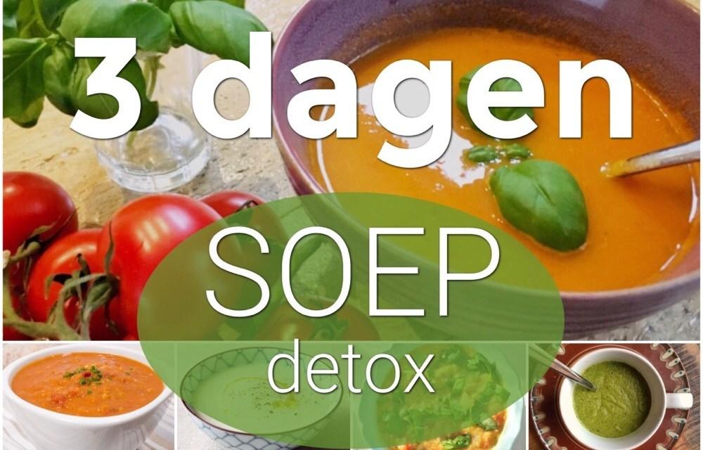 3-daagse soep detox: alle recepten op een rij