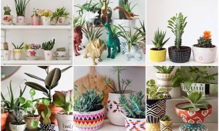 Woontrend: vrolijke plantenpotten (+ een easy plantenpot DIY)