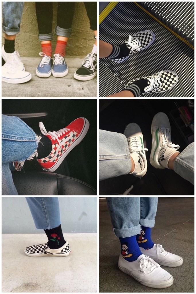 VANS met sokken