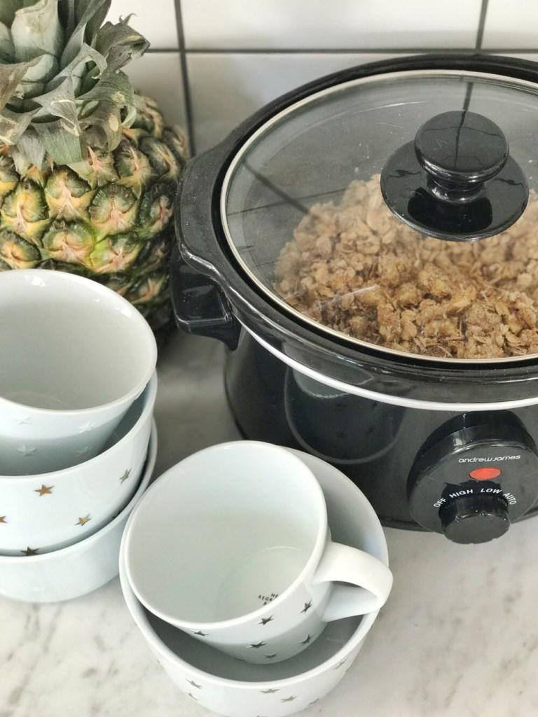 recept voor granola uit de slowcooker