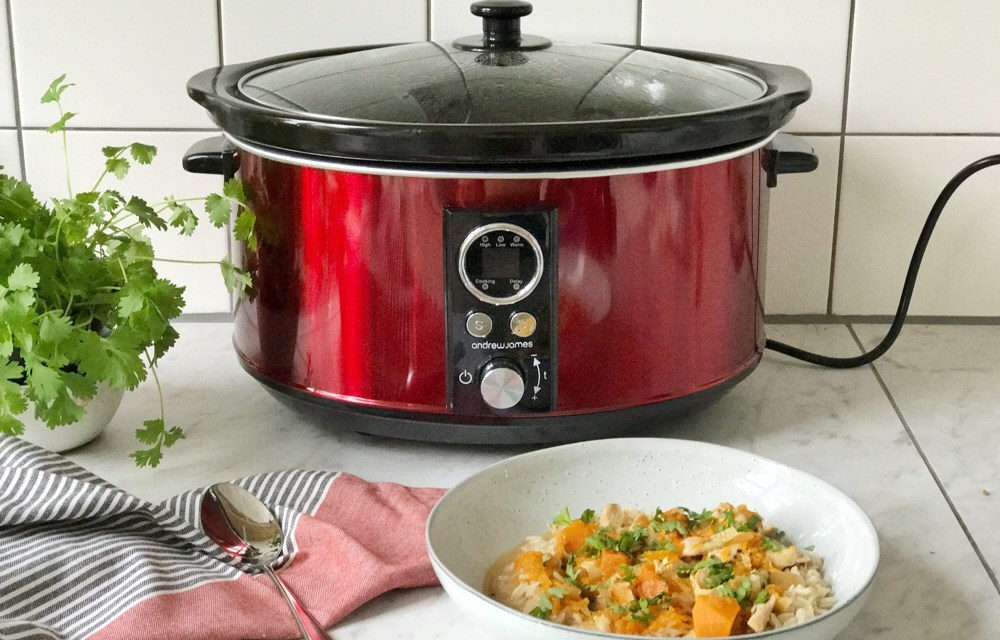 Slowcookerrecept: curry met pompoen en kip