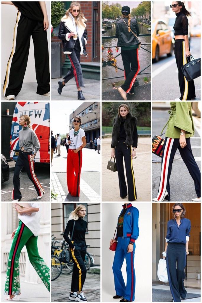 Fashiontrend: wijdebroek met strepen aan de zijkant