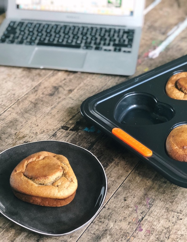 Le Creuset - muffins met banaan