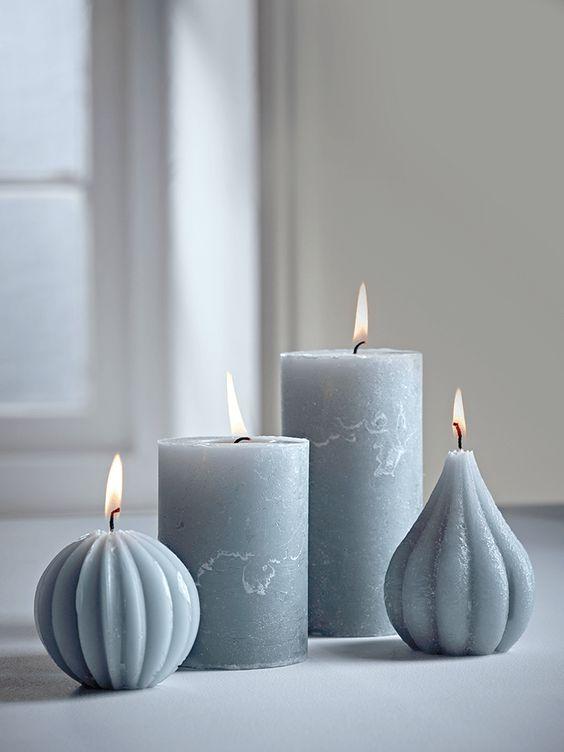grijze kaarsen