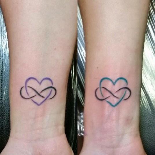 Infinity moeder dochter tattoos
