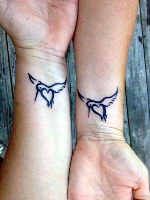 kolibrie moeder dochter tattoo