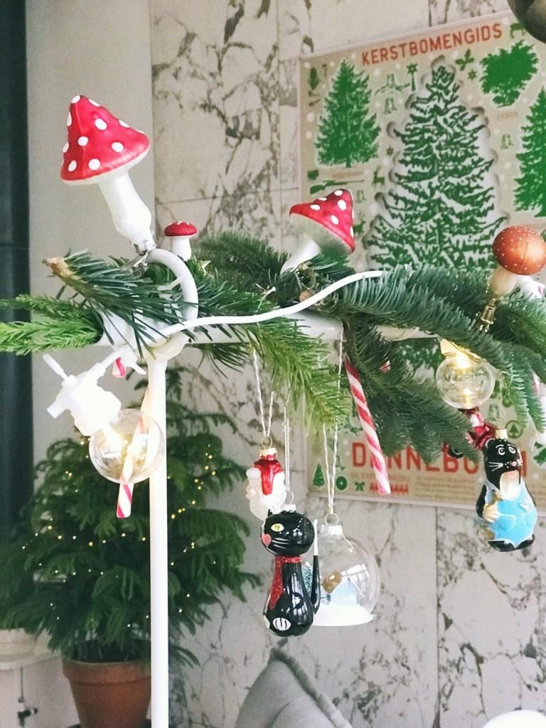 Tafelklem versiering voor kerst