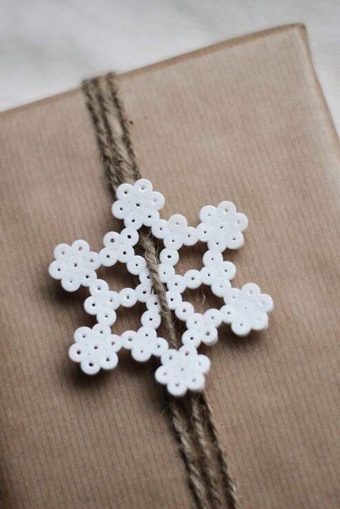 sneeuwvlok van strijkkralen
