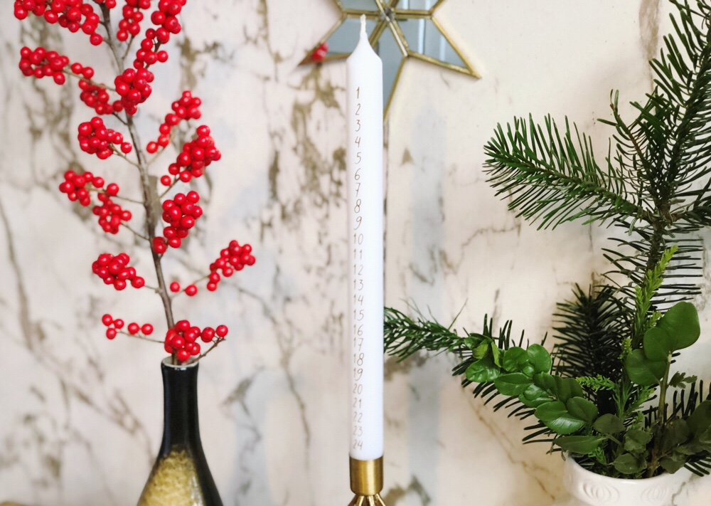 Christmas advent candle